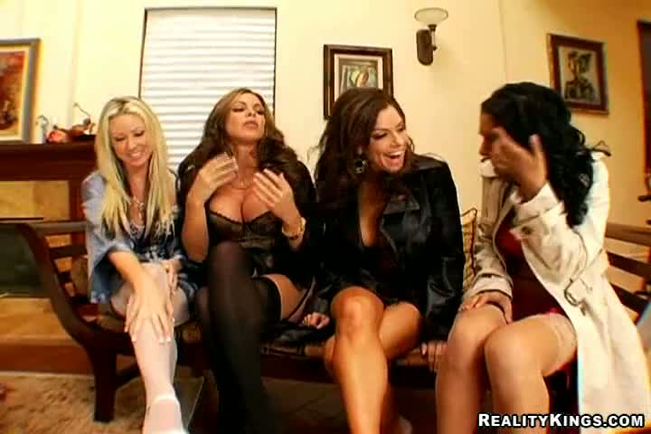 One four cock girls