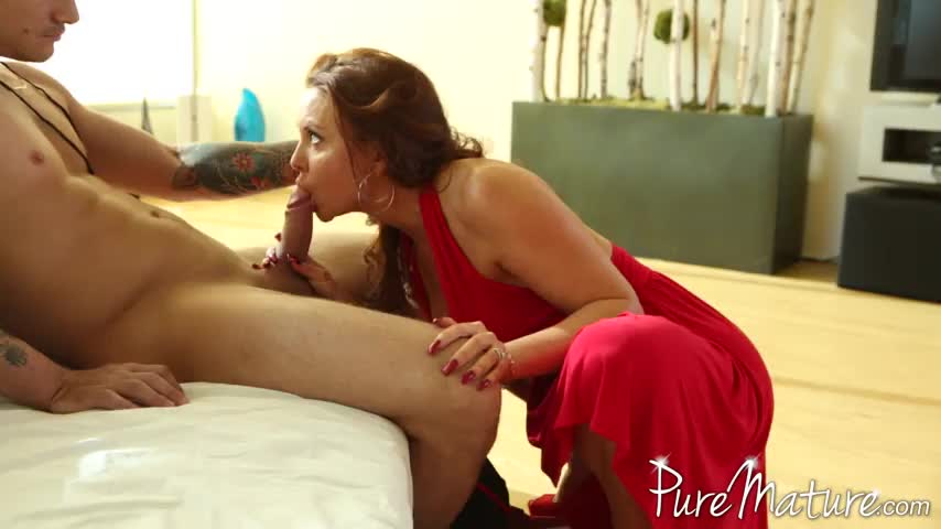 Porn in mature lady red sorry