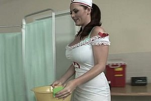 Compassionate nurse with big tits