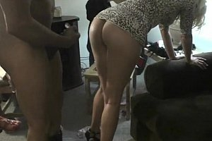 Girls watch their hot ass friend getting fucked