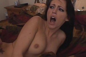 Fucking and swallowing brunette